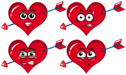 Red heart with arrows