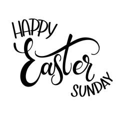 Happy Easter Sunday lettering. Hand written Easter phrases. Seasons Greetings