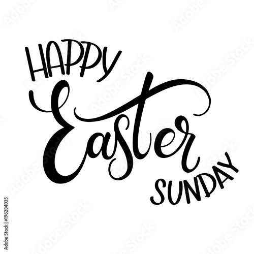 Happy easter sunday lettering hand written easter phrases seasons hand written easter phrases seasons greetings m4hsunfo
