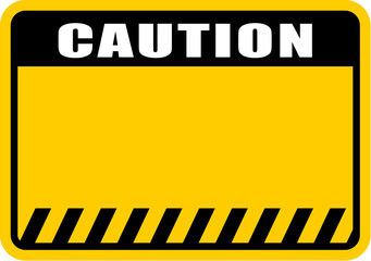 caution, sign