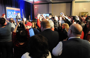 Republican candidate Saccone holds his election night rally in Pennsylvania's 18th U.S. congressional district special election in Elizabeth Township