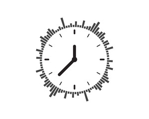 Clock icon vector illustration design
