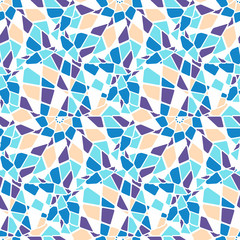 Colorful mosaic style vector seamless pattern