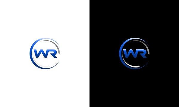 Letter WR Circle Media Technology Business Modern Logo