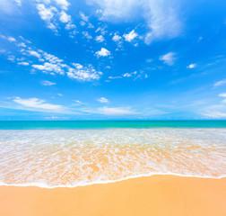Fototapete - beach and tropical sea