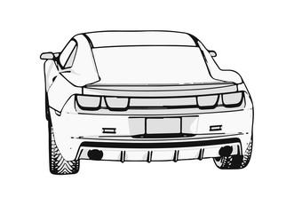 outline car vector