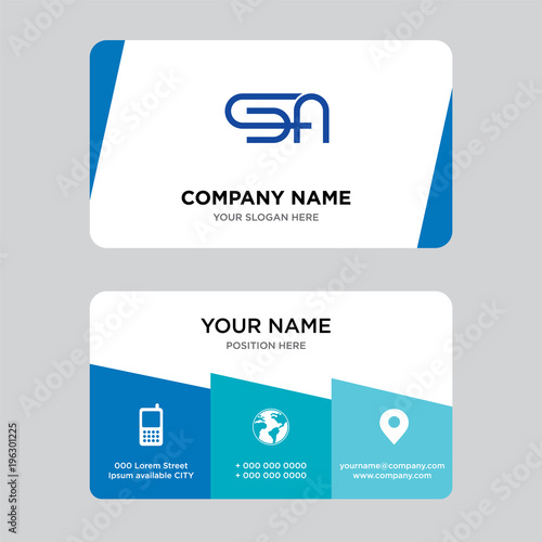 Sa Business Card Design Template Visiting For Your Company Modern
