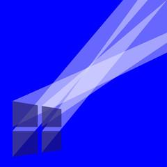 window light screensaver transparent