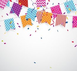 Celebration background with colorful bunting flags
