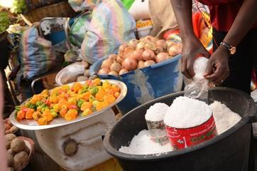 Marché de Bakoteh (Gambie)