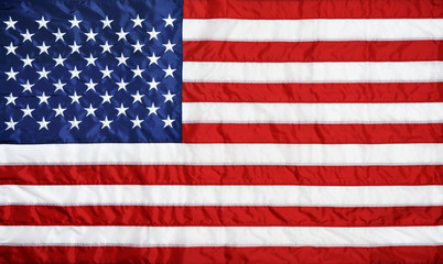 Closeup background of American flag