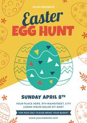Easter Egg Hunt Flyer Design