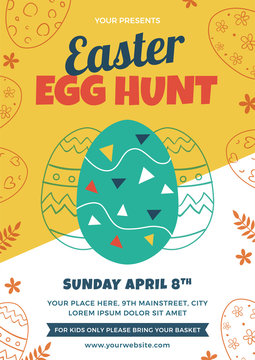 Easter Egg Hunt Flyer Design