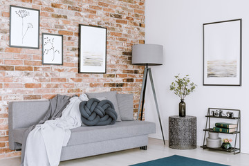 Gallery in cozy living room