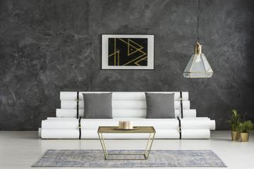 Minimalist room with elegant furniture