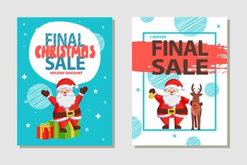 Final Christmas Sale Holiday Discount Poster Santa