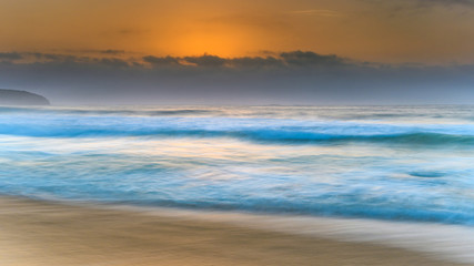 Hazy Sunrise Seascape