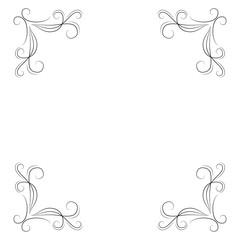 Vintage ornate frames, decorative ornaments, flourish and scroll elements. .