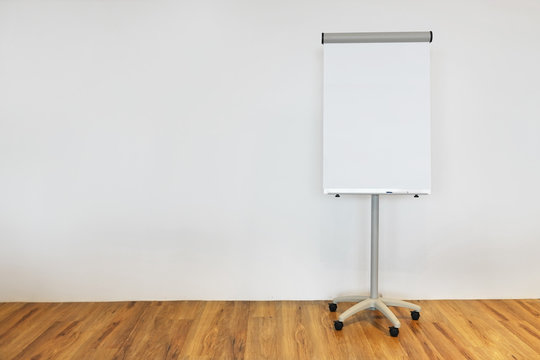 Flip chart white paper prepared for presentations