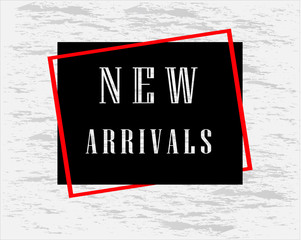New Arrivals banner for cover page and advertising.