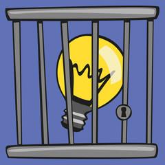 idée - ampoule - protection - protéger - copyright - invention - concept - conception - créatif - créativité