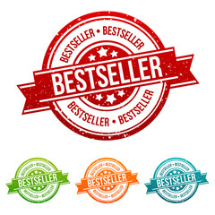 Bestseller Stamp - Onlineshopping Badge in different colours.