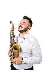 Saxophone Player Saxophonist with Sax