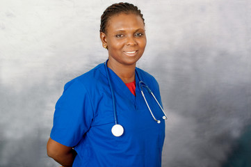 young woman nurse portrait
