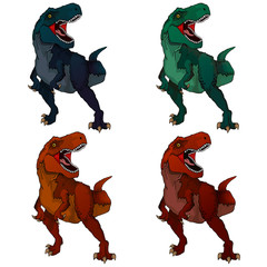 Isolated illustration of a cartoon Tyrannosaur