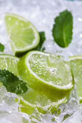 Lime slices mint
