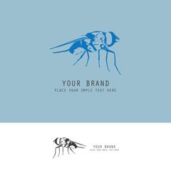 flies abstract logo