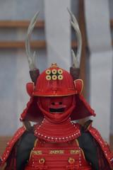 Sanada's armor set / 戦国時代・真田家の赤備え甲冑(正面)