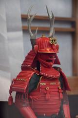 Sanada's armor set / 戦国時代・真田家の赤備え甲冑(よこ)