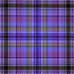 Multicolored checkered fabric pattern in blue tones