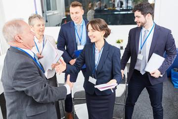 Geschäftsleute gratulieren Business Berater