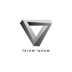 overlaping triangle logo logotype vector art