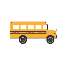 School bus.Illustration on white background