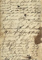 Old Vintage Handwritten Paper Texture Background