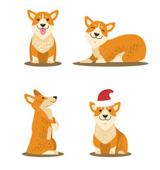 Dogs Collection of Icons, Vector Illustration