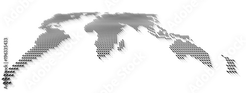 Vector perspective dotted world map in gray scale stock image and vector perspective dotted world map in gray scale gumiabroncs Images