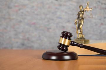 Judge's gavel. Closeup