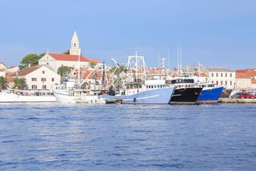 Biograd Village harbor, Mediterranean sea, Dalmatia, Croatia