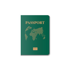 Passport cover vector design, Identification citizen, Vector, Illustration