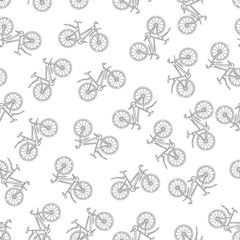 Vector seamless pattern with bicycle. Perfect for site backdrop, screen background, surface design and other endless fill.