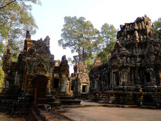 Ancient ruins of khmer temples