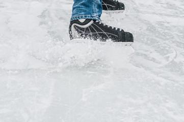 Ice skater in the skating rink