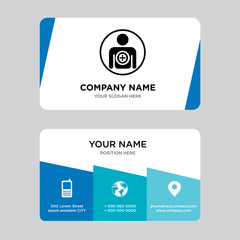 become a member business card design template, Visiting for your company, Modern Creative and Clean identity Card Vector Illustration