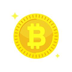Bitcoin concept. Cryptocurrency digital money. Block chain symbol.