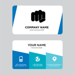 fist bump business card design template, Visiting for your company, Modern Creative and Clean identity Card Vector Illustration