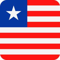 Liberia Flag Vector Square Flat Icon
